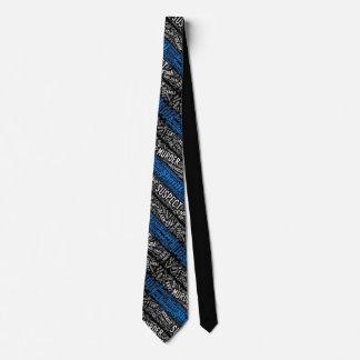 Thin Blue Line Word Tie