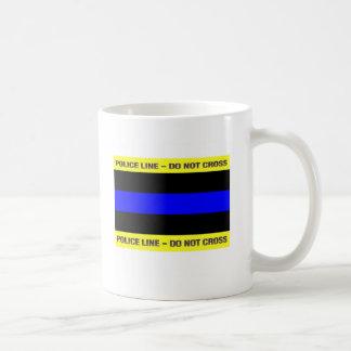 Thin Blue Police Line Coffee Mug