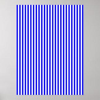 Thin Blue Stripes Print
