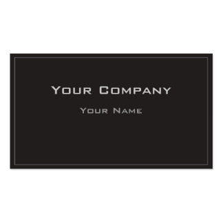 Thin Border Black Simple  Corporate  Business Card