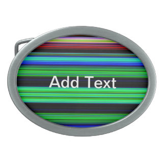 Thin Colorful Stripes - 1 Belt Buckles
