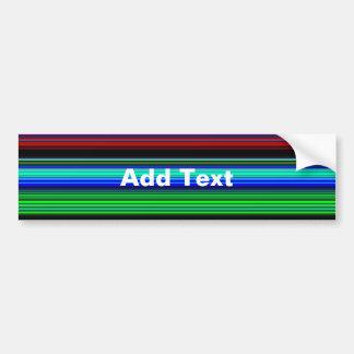 Thin Colorful Stripes - 1 Bumper Sticker