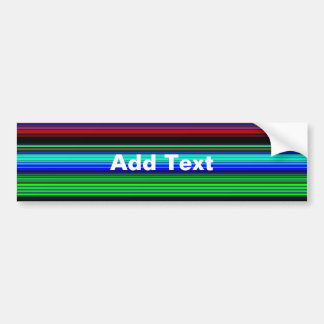 Thin Colorful Stripes - 1 Bumper Stickers