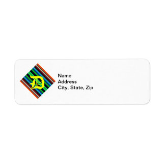Thin Colorful Stripes - 1 Label