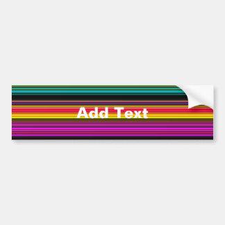 Thin Colorful Stripes - 2 Bumper Sticker