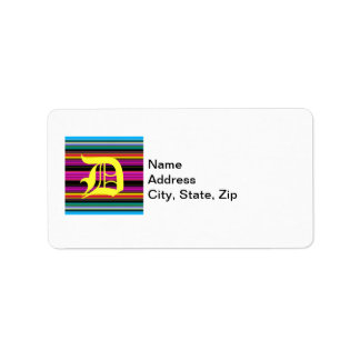 Thin Colorful Stripes - 2 Label