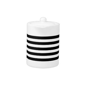 Thin Horizontal Stripes Teapot
