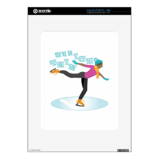 Thin Ice Decal For iPad