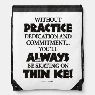 THIN ICE DRAWSTRING BAGS