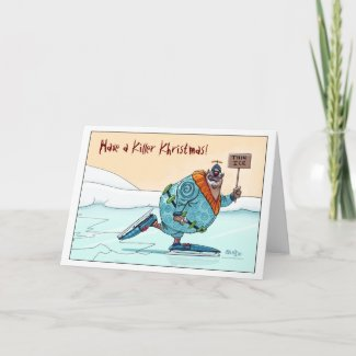 Thin Ice Khristmas Kard card