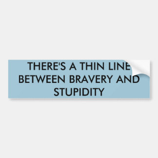 Thin Line Bumper Sticker