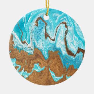 Thin Mint Swirl Ceramic Ornament
