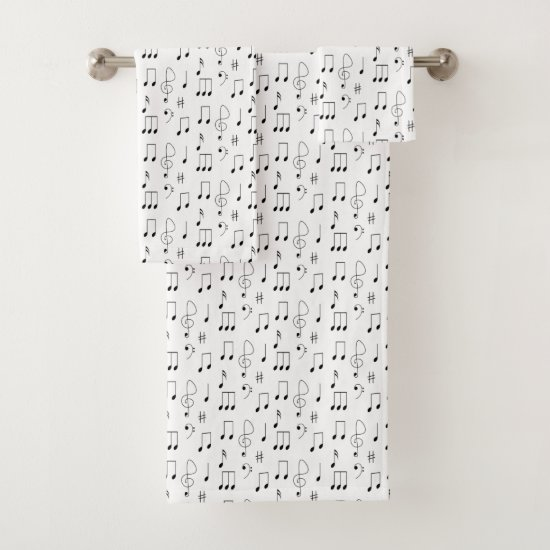 Thin Notes Bath Towel Set