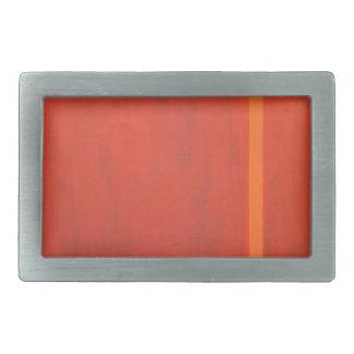 Thin Orange Band (geometric minimal expressionism) Belt Buckle