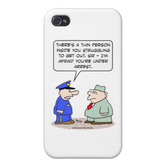thin person struggling under arrest iPhone 4/4S cover