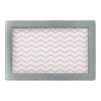 Thin Pink Chevron Pattern Rectangular Belt Buckle