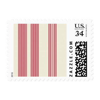 Thin Pink Vertical Stripes Candy Cane Inspired Postage