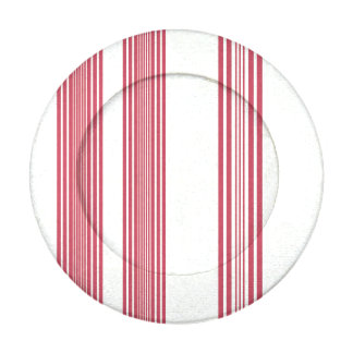 Thin Pink Vertical Stripes Off White Background Button Covers