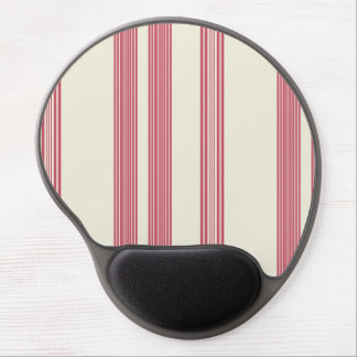 Thin Pink Vertical Stripes Off White Background Gel Mouse Pad