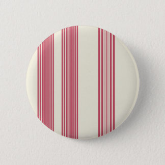 Thin Pink Vertical Stripes Off White Background Pinback Button