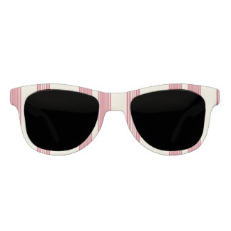 Thin Pink Vertical Stripes Off White Background Sunglasses