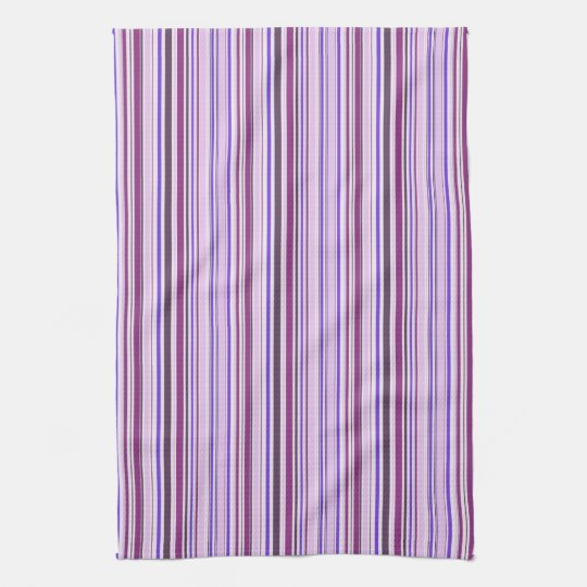 Thin Purple Stripe Pattern Towel