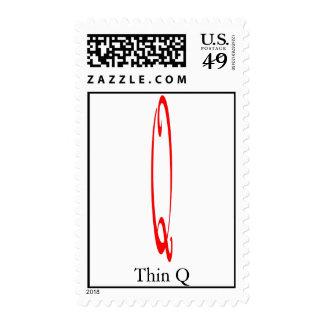Thin Q Postage Stamp