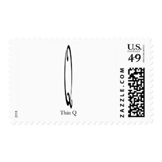 Thin Q Postage Stamp - Customized