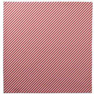 Thin Red and White Diagonal Stripes Cloth Napkin