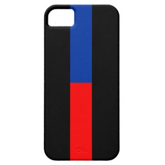 thin red blue line police law iPhone 5/5S cases