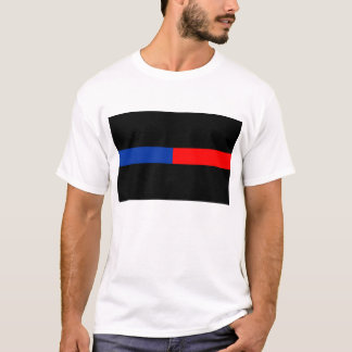 thin red blue line police law T-Shirt