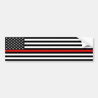 Thin Red Line American Flag Bumper Sticker