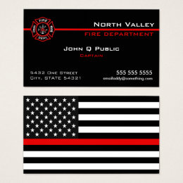 Thin Red Line American Flag Business Card
