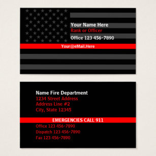 The american flag business cards templates zazzle thin red line american flag contact business card colourmoves