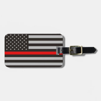 THIN RED LINE AMERICAN FLAG TAGS FOR LUGGAGE
