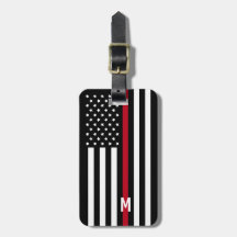 9fdeb32f2871 Thin Red Line Luggage & Bag Tags | Zazzle