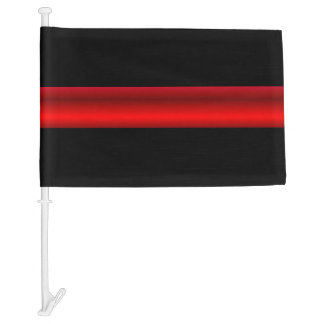 Thin Red Line Firefighter Funeral Flag Larger