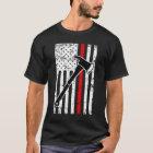 Thin Red Line Firefighter men's Flag T-shirt