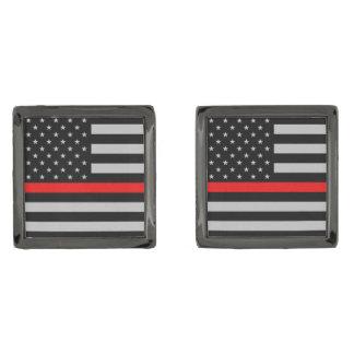Thin Red Line Fireman Flag Cufflinks