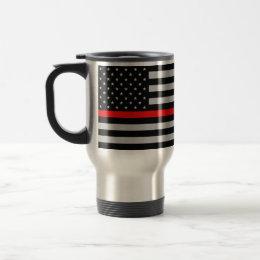 Thin Red Line Fireman Flag Mug