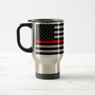 Thin Red Line Fireman Flag Mug