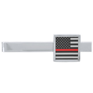 Thin Red Line Fireman Flag Tie Bar