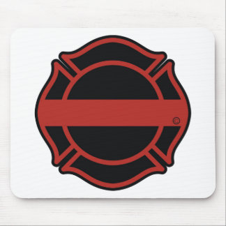 Thin Red Line Maltesse Cross Mouse Pad