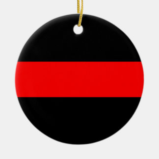 Thin Red Line of Courage Firefighters Ornament