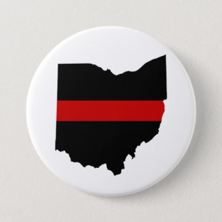 Thin Red Line Ohio Button