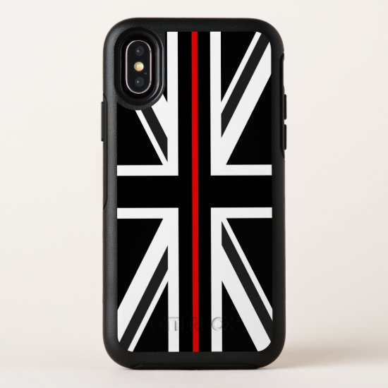 Thin Red Line UK Flag OtterBox Symmetry iPhone X Case