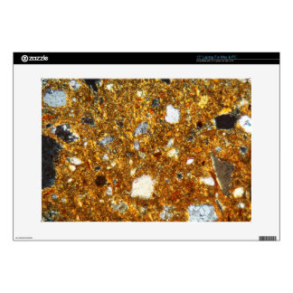 "Thin section of a brick under the microscope 15"" laptop decals"