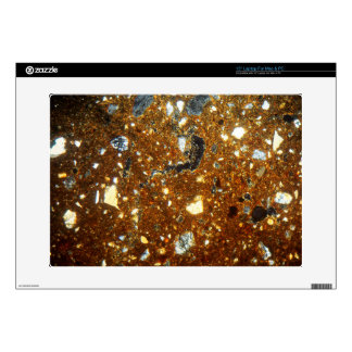 """Thin section of a brick under the microscope 15"""" laptop skins"""