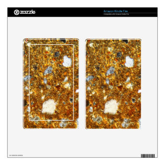 Thin section of a brick under the microscope decal for kindle fire