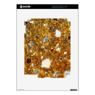Thin section of a brick under the microscope decal for the iPad 2